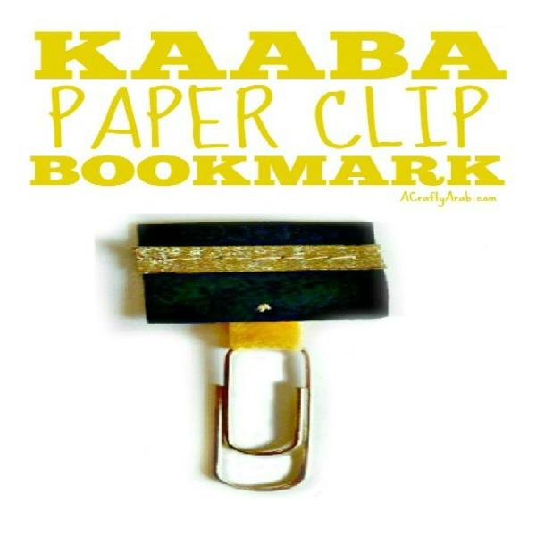 how to make kaaba bookmark
